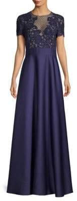 Escada Glleras Beaded Bodice A-Line Gown