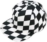 Off-White chequered flat peak cap