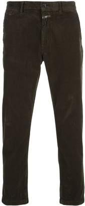 Closed straight-leg corduroy trousers