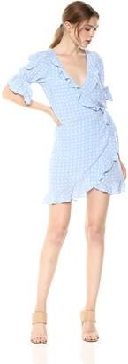 For Love & Lemons Women's Sweetheart Wrap Mini Dress