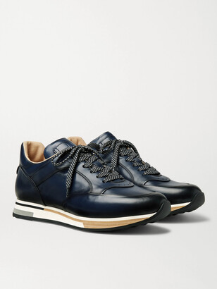 Dunhill Duke Leather Sneakers - Blue