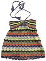 M Missoni Purple MultiColor Knit Halter Top