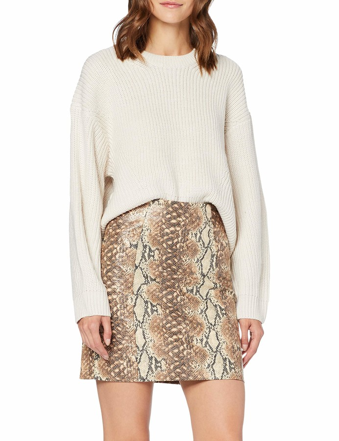 Thumbnail for your product : New Look Women's Snake PU Mini Skirt