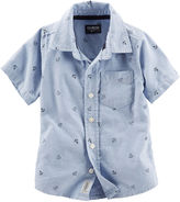 Osh Kosh Short-Sleeve Woven Cotton Shirt - Toddler Boys 2t-5t