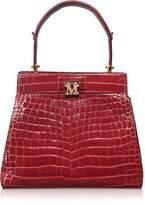 Max Mara Embossed Leather Marlen 3 Top-Handle Satchel Bag