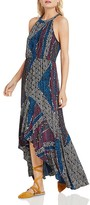 BCBGeneration Patchwork-Print High/Low Dress