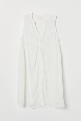 H&M MAMA Button-front Tunic - White