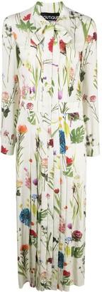 Boutique Moschino Floral-Print Tie-Neck Maxi Dress