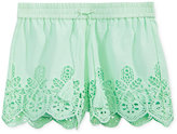 Imperial Star Eyelet Shorts, Big Girls (7-16)