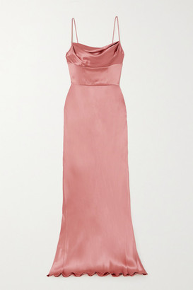 Dolce & Gabbana Draped Silk-satin Gown - Pink