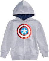 Marvel Marvel's Captain America Front-Zip Hoodie, Little Boys