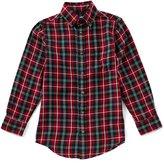 Class Club Big Boys 8-20 Plaid Button-Down Long-Sleeve Shirt