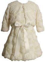 Bonnie Jean Girls 4-6x Rosette Mesh Dress & Jacket Set