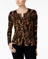 Charter Club Animal-Print Cardigan, Only at Macy's