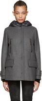 Moncler Grey Wool and Down Euphemia Coat