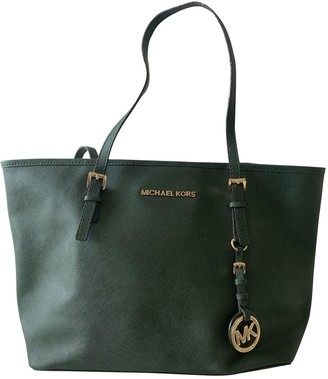 Michael Kors Jet Set Green Fur Handbags