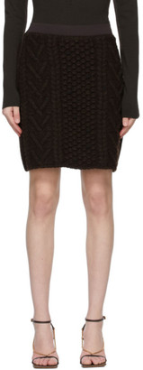Bottega Veneta Brown Knit Wool Skirt
