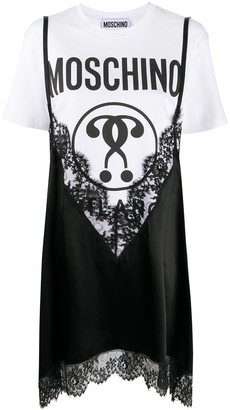 Moschino Double Question Mark layered dress
