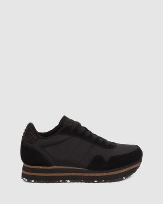 Woden - Women's Black Flatforms - Nora III Plateau - Size One Size, 42 at The Iconic