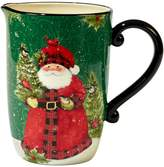 Certified International Winter's Plaid Santa Pitcher