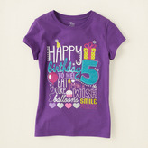 Children's Place Fifth birthday graphic tee