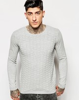 Minimum Jumper With Textured Knit - Grey