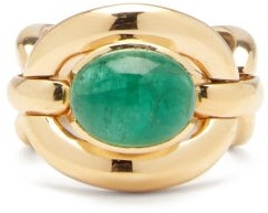 Nadine Aysoy - Catena Emerald & 18kt Gold Ring - Green Gold