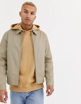 Asos Design DESIGN harrington jacket in stone