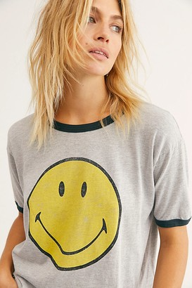 Daydreamer X Free People Classic Smiley Ringer Tee