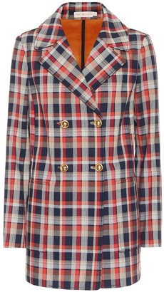 Tory Burch Checked cotton-blend blazer