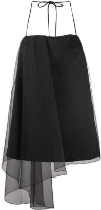 Pinko Tulle Panel Draped Mini Dress
