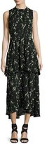 A.L.C. Wylon Sleeveless Printed Silk Maxi Dress