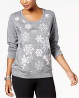 Style&Co. Style & Co Petite Snowflake-Embellished Sweatshirt, Created for Macy's