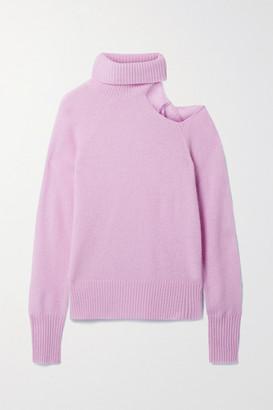 Skin Phoebe Cutout Cashmere Turtleneck Sweater - Lavender