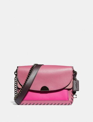Coach Dreamer Shoulder Bag In Colorblock With Whipstitch