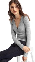 Gap Softspun wrap-front long sleeve bodysuit