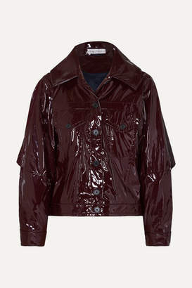 Palmer Harding Palmer/Harding palmer//harding - Blended Cape-effect Vinyl Jacket - Burgundy