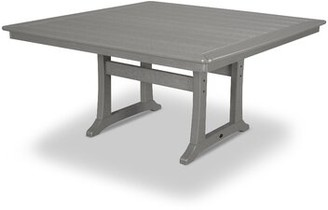 """Polywood Trestle Square 29"""" Table Color: Slate Gray"""