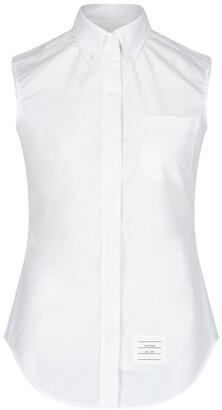 Thom Browne Sleeveless Grosgrain Poplin Shirt