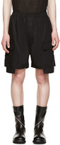 Rick Owens Black Cargo Boxer Shorts