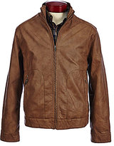 Roundtree & Yorke Faux-Leather Full-Zip Jacket