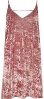 River Island Womens Pink marble velvet mini slip dress