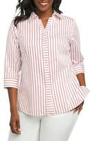 Foxcroft Clio Sateen Stripe Shirt