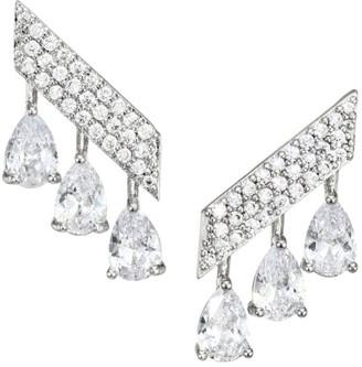 Fallon Monarch Mini Pave Bar Earrings