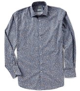 Thomas Dean Floral Poplin Long-Sleeve Woven Shirt