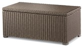 Threshold Heatherstone Wicker Patio Storage Trunk Coffee Table