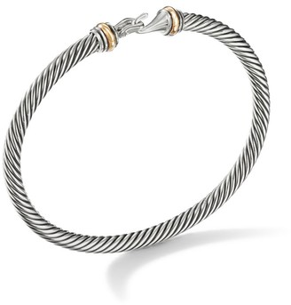 David Yurman Cable Buckle Bracelet with Gold/4mm
