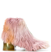 MM6 MAISON MARGIELA faux fur boots