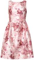 **Luxe Pink Blurred Floral Dress
