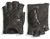 Rebecca Minkoff Women's Quilted Goatskin Leather Fingerless Gloves